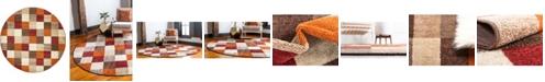 Bridgeport Home Jasia Jas01 Multi 8' x 8' Round Area Rug