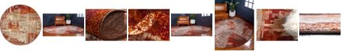 "Bridgeport Home Jasia Jas06 Multi 3' 3"" x 3' 3"" Round Area Rug"