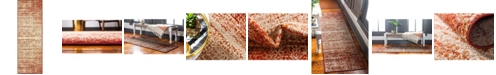 Bridgeport Home Jasia Jas08 Terracotta 2' x 6' Runner Area Rug