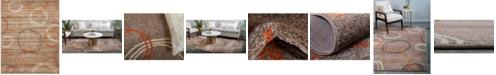 Bridgeport Home Jasia Jas05 Light Brown 8' x 10' Area Rug