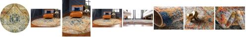 Bridgeport Home Newhedge Nhg1 Beige 8' x 8' Round Area Rug