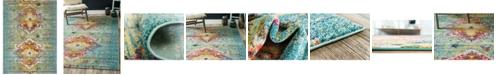 Bridgeport Home Brio Bri9 Turquoise 9' x 12' Area Rug