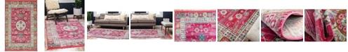 """Bridgeport Home Kenna Ken2 Pink 5' 5"""" x 8' Area Rug"""