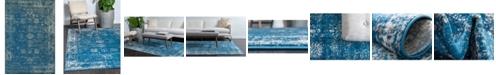 Bridgeport Home Basha Bas1 Blue 6' x 9' Area Rug