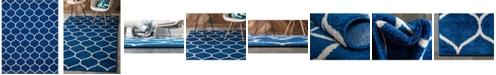Bridgeport Home Plexity Plx2 Navy Blue 8' x 10' Area Rug