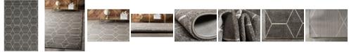 Bridgeport Home Plexity Plx1 Dark Gray 4' x 6' Area Rug