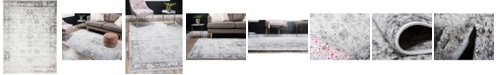 Bridgeport Home Basha Bas1 Gray 8' x 11' Area Rug