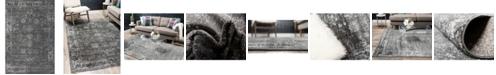 Bridgeport Home Basha Bas1 Dark Gray 6' x 9' Area Rug