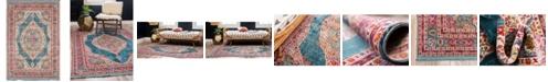 """Bridgeport Home Kenna Ken1 Turquoise 4' 3"""" x 6' Area Rug"""