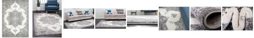 Bridgeport Home Mishti Mis6 Gray 9' x 12' Area Rug