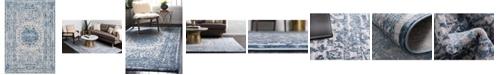 Bridgeport Home Aitana Ait1 Blue 4' x 6' Area Rug
