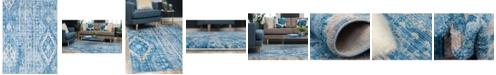 Bridgeport Home Nira Nir2 Blue 9' x 12' Area Rug
