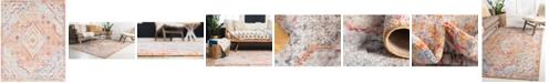 Bridgeport Home Zilla Zil1 Orange 8' x 10' Area Rug