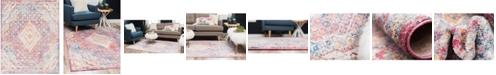 Bridgeport Home Zilla Zil1 Pink 8' x 10' Area Rug