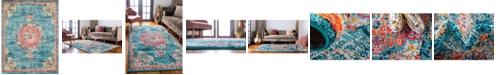 Bridgeport Home Lorem Lor1 Turquoise 8' x 10' Area Rug