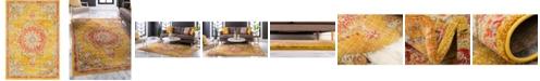 """Bridgeport Home Lorem Lor1 Gold 5' 3"""" x 7' 7"""" Area Rug"""