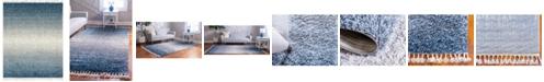 Bridgeport Home Lochcort Shag Loc5 Blue 8' x 10' Area Rug