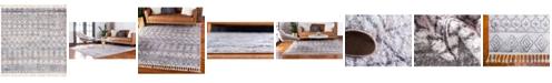 """Bridgeport Home Levia Lev1 Ivory 7' 7"""" x 7' 7"""" Square Area Rug"""