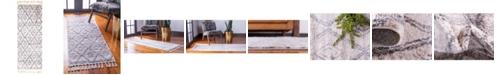 """Bridgeport Home Levia Lev2 Beige/Gray 2' 4"""" x 6' Runner Area Rug"""