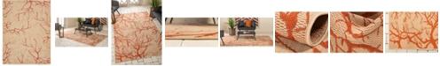 Bridgeport Home Pashio Pas6 Beige/Terracotta 9' x 12' Area Rug