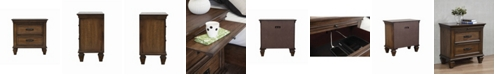 Macy's Coaster Home Furnishings Franco 2-Drawer Nightstand with Pull Out Tray