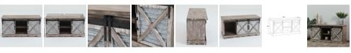 "Luxen Home Sliding Doors Wood 39.4"" Entry Cabinet"