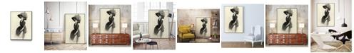 "Giant Art 14"" x 11"" Feather Hat II Art Block Framed Canvas"
