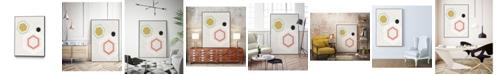 """Giant Art 36"""" x 24"""" Mod Geometry II Art Block Framed Canvas"""
