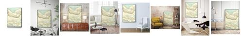 """Giant Art 36"""" x 24"""" Ocean Cascade I Art Block Framed Canvas"""
