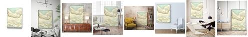 """Giant Art 14"""" x 11"""" Ocean Cascade I Art Block Framed Canvas"""
