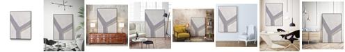 "Giant Art 40"" x 30"" Neutral Impact I Art Block Framed Canvas"
