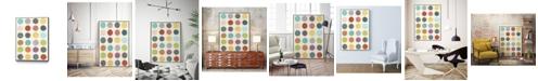 "Giant Art 20"" x 16"" Pattern Interaction III Art Block Framed Canvas"