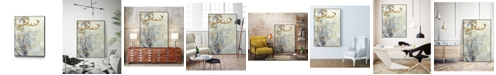 "Giant Art 36"" x 24"" Arabic Encaustic III Art Block Framed Canvas"