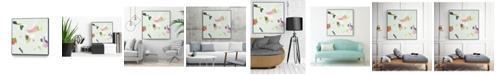 """Giant Art 20"""" x 20"""" Olive Scatter II Art Block Framed Canvas"""