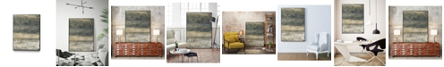 "Giant Art 20"" x 16"" Earthen Lines II Art Block Framed Canvas"