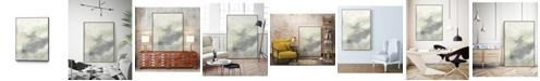 "Giant Art 28"" x 22"" Cloud Impressions II Art Block Framed Canvas"