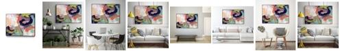 """Giant Art 40"""" x 30"""" Vibrant Spring II Art Block Framed Canvas"""