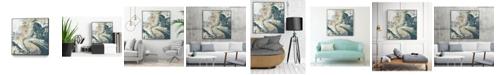 "Giant Art 20"" x 20"" Teal Aerial Art Block Framed Canvas"