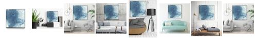 "Giant Art 30"" x 30"" Crystalline II Art Block Framed Canvas"