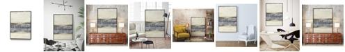 """Giant Art 32"""" x 24"""" Divided Horizon I Art Block Framed Canvas"""