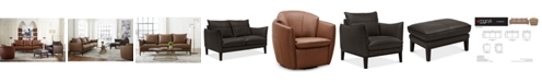 Furniture Chanute Leather Sofa Collection