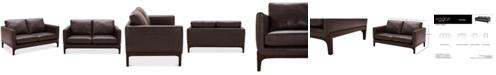 "Furniture Yazlan 62"" Leather Loveseat"