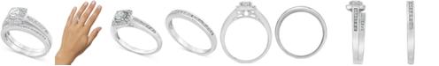 Macy's Diamond Halo Bridal Set (3/4 ct. t.w.) in 14k White Gold