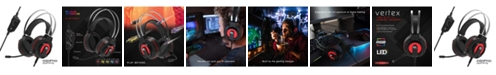 Tzumi  Alpha Gaming Vertex Headset – RGB LED 7.1 Stereo Wired Gaming Headset with In-Line Remote for PC Gaming