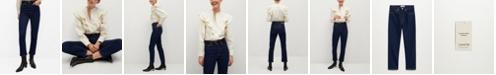 MANGO Women's High Waist Straight Jeans