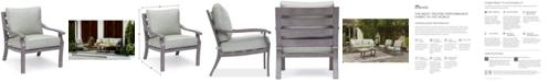 Furniture Tara Aluminum Outdoor Club Chair, with Sunbrella® Cushions, Created for Macy's