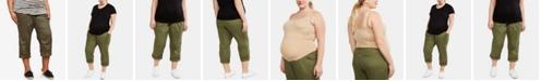 Motherhood Maternity Plus Size Staight-Leg Cuffed Pants