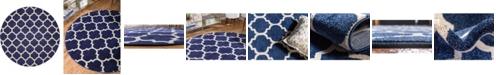 Bridgeport Home Arbor Arb1 Dark Blue 8' x 8' Round Area Rug