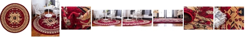 Bridgeport Home Charvi Chr1 Red 8' x 8' Round Area Rug