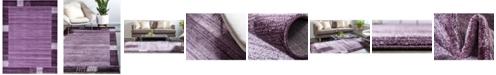 Bridgeport Home Lyon Lyo1 Purple 9' x 12' Area Rug